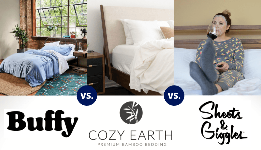 Don't Lose Sleep., Top 3 Cotton-Alternative Sheets:, Buffy vs. Cozy Earth, vs. Sheets & Giggles cover image